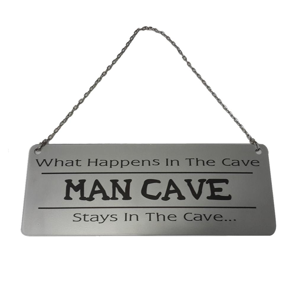 Man Cave Door Signs : Man cave rules door sign the metal gift company
