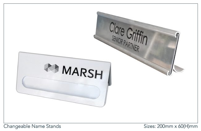Changeable-Name-Stands